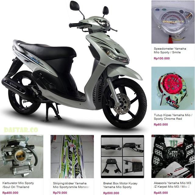 Daftar Harga Spare Part Yamaha Mio