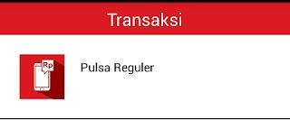 menu transaksi pulsa reguler di unitedtronik