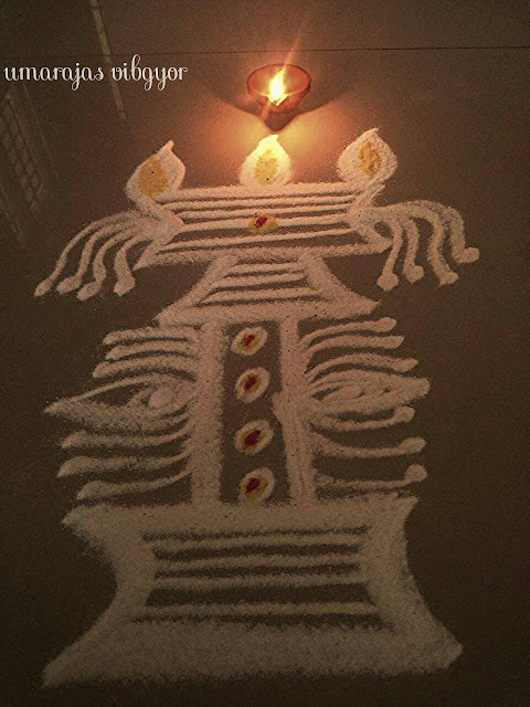 Simple Rangoli for Diwali 4