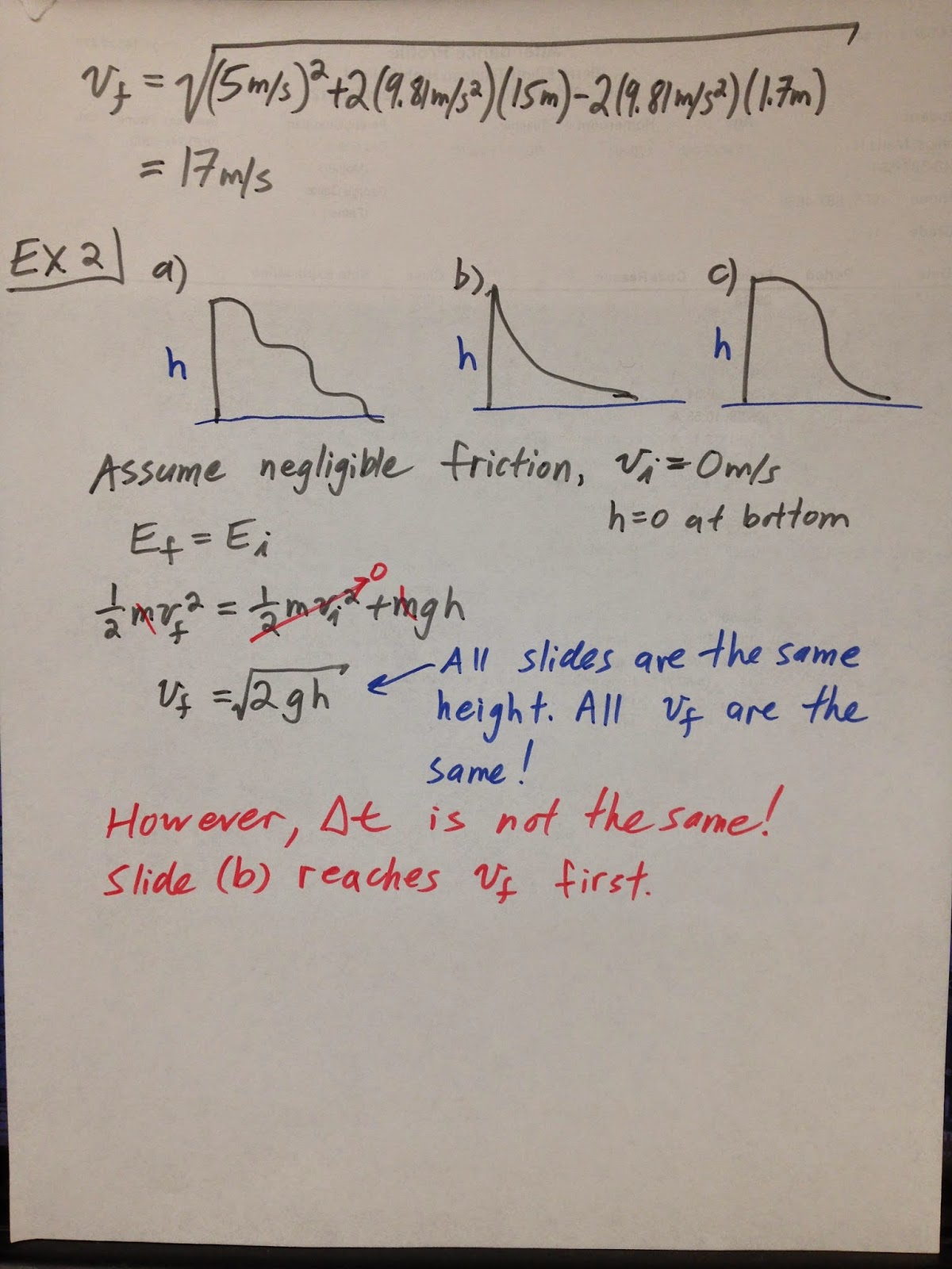 Grade 11 Physics Nov 7 Conservation Of Energy