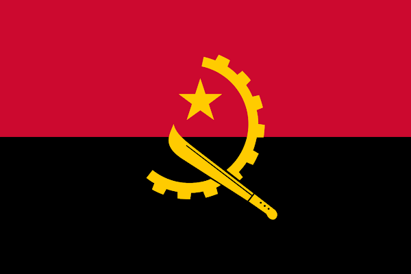 Logo Gambar Bendera Negara Angola PNG JPG ukuran 600 px