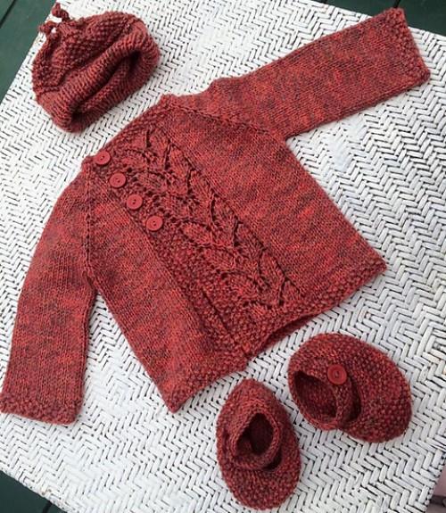 Leaf Love Baby Sweater - Free Pattern