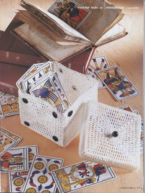 Caja Dado en Crochet Instrucciones en Castellano