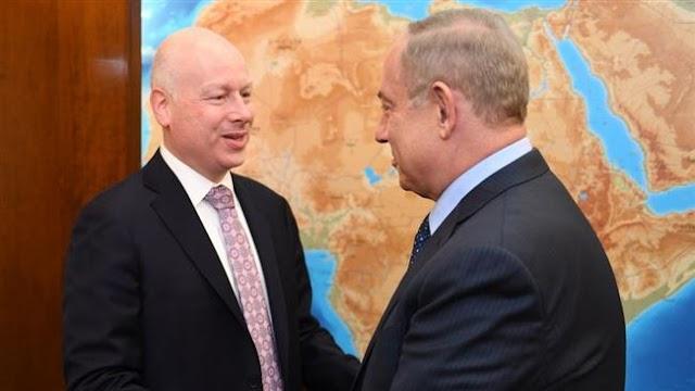 US President Donald Trump's envoy Jason Greenblatt meets NetanyahuPrime Minister Benjamin Netanyahu in Israel, to meet Palestinian President Mahmoud Abbas