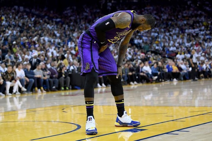 Lakers' LeBron James taking time to heal after injury.