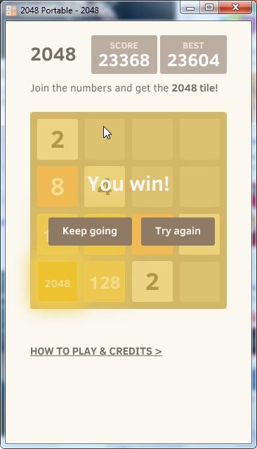 Second winning : 2048