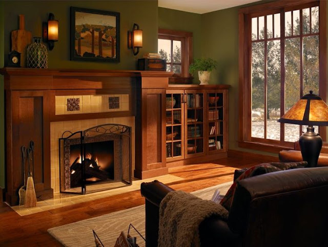 Classic Fireplace Hearth Design for Living Room