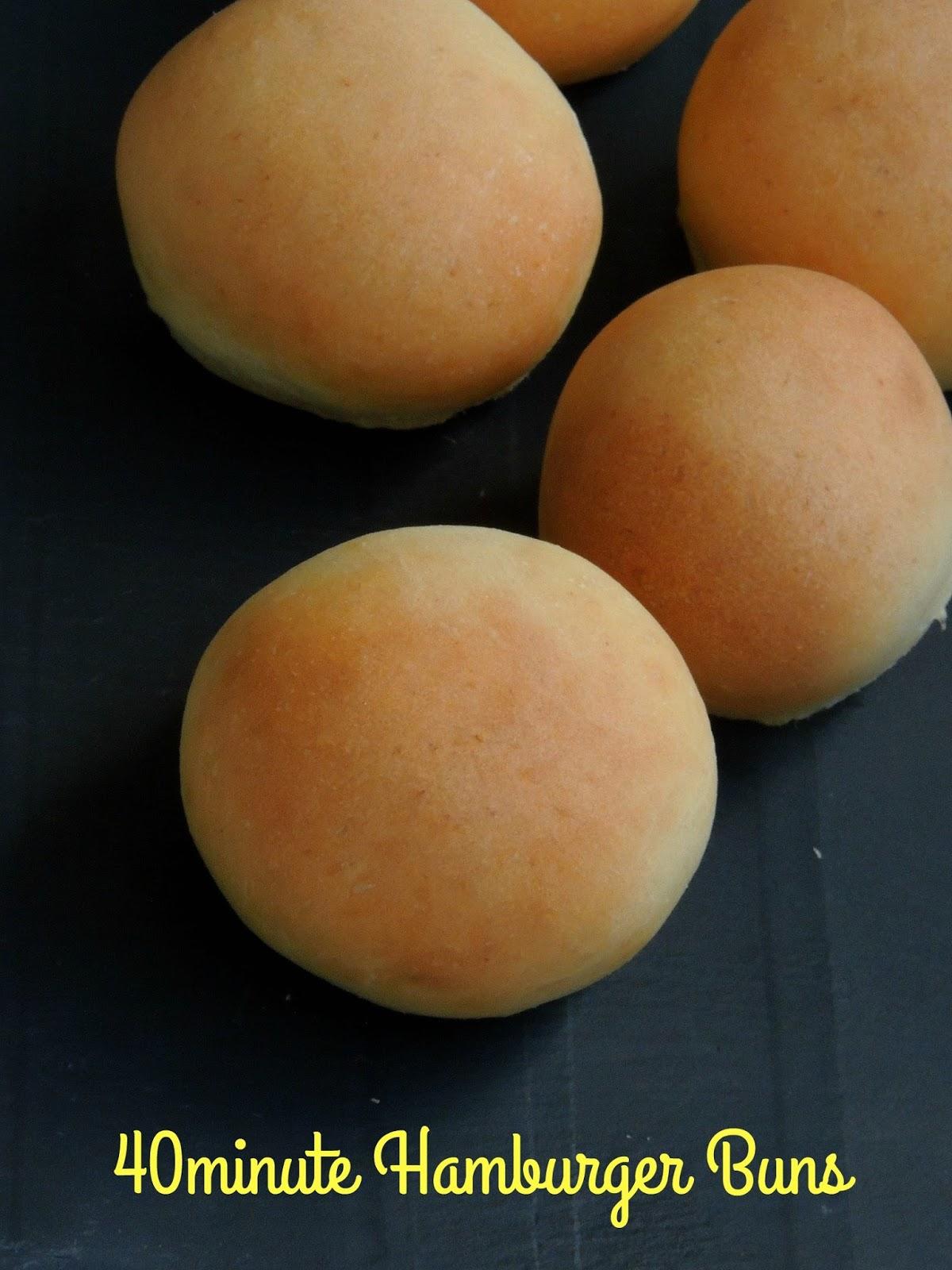 Priya's Versatile Recipes: 40minute Eggless Hamburger Buns