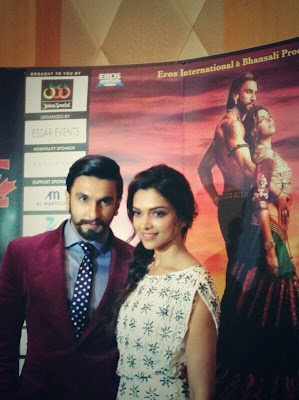 Deepika & Ranveer in Dubai for RamLeela Promotion