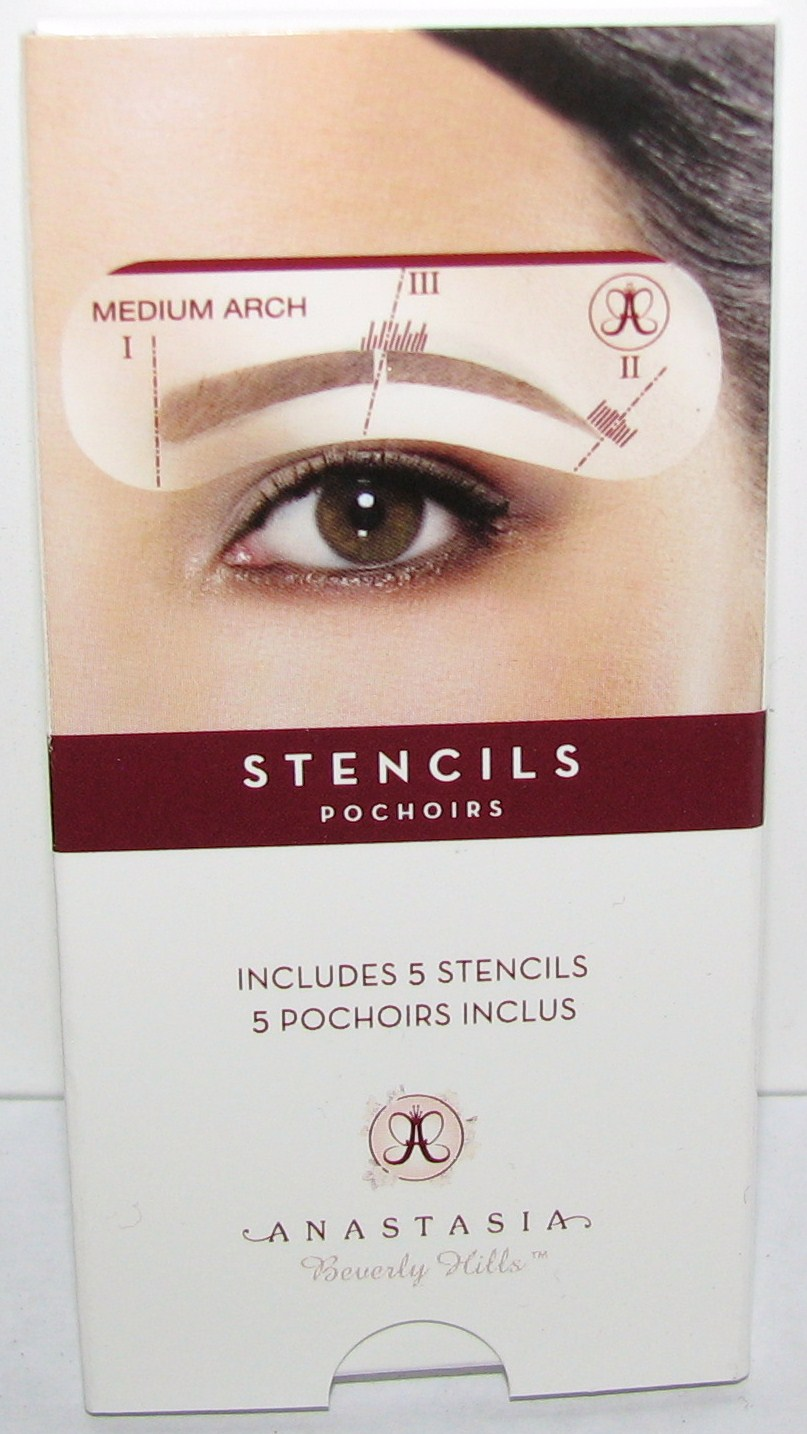 how to use anastasia eyebrow stencils