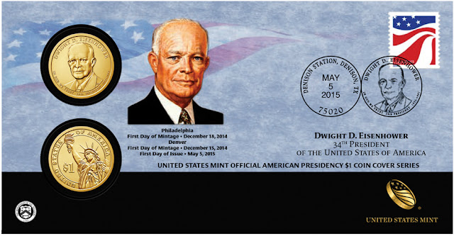 "President Dwight David ""Ike"" Eisenhower 2015 One Dollar Coin Cover"