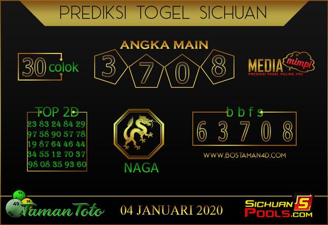 Prediksi Togel SICHUAN TAMAN TOTO 04 JANUARI 2020