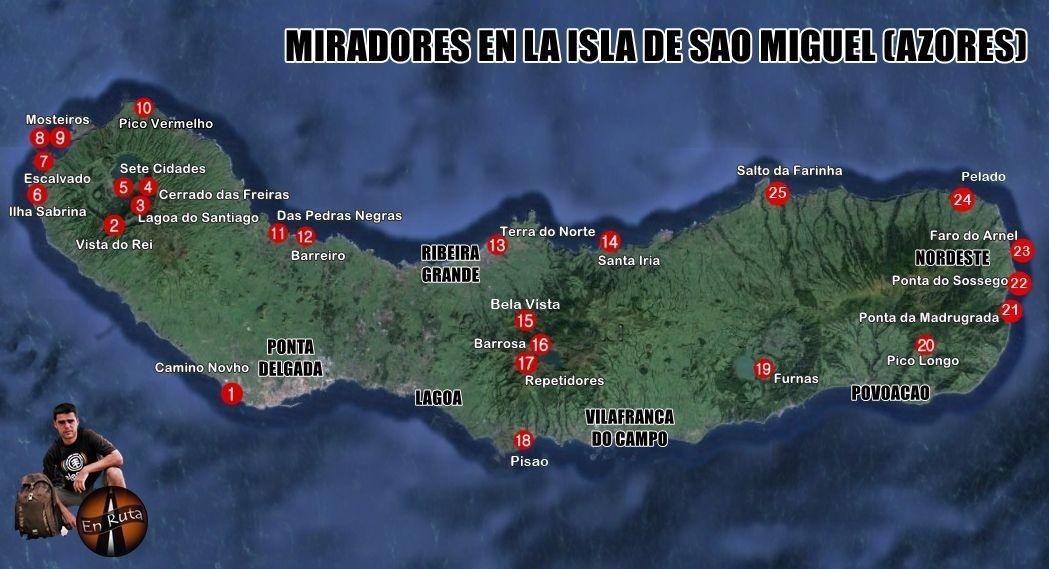 25 Miradores Para Una Ruta Con Vistas En La Isla De Sao Miguel