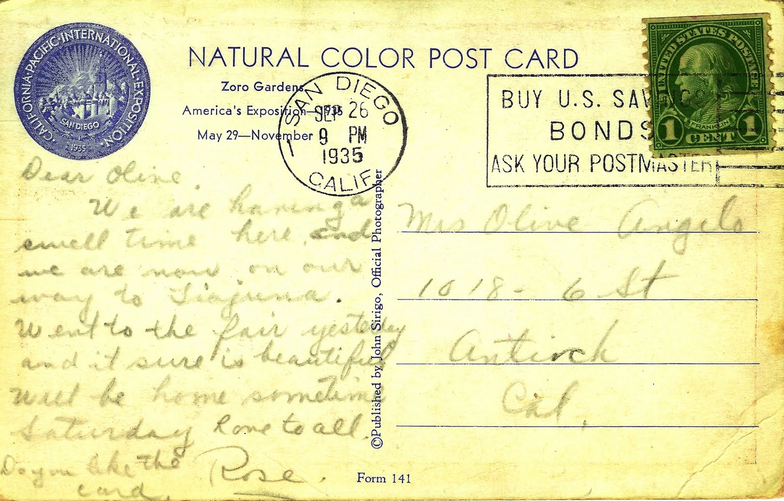 Writerquake: Old Postcard Wednesday--Zoro Garden Nudist
