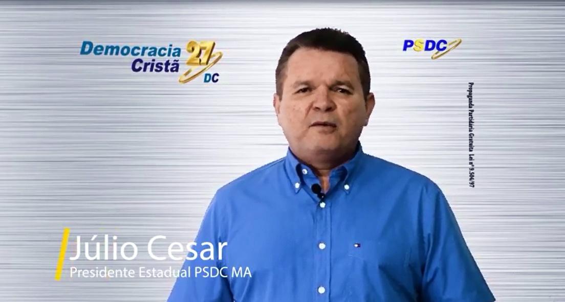 Por indicação de Paulo Neto, Júlio César assume a Presidência do PSDC no Maranhão.