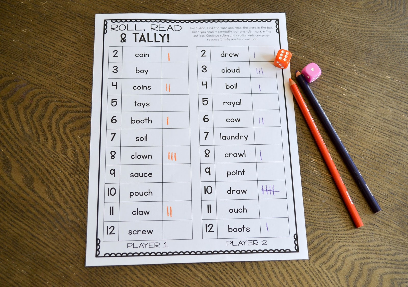 Diphthongs Activities And Games