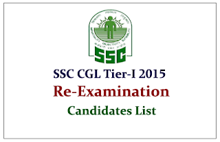 SSC CGL 2015 Tier-I Re-Exam Candidates