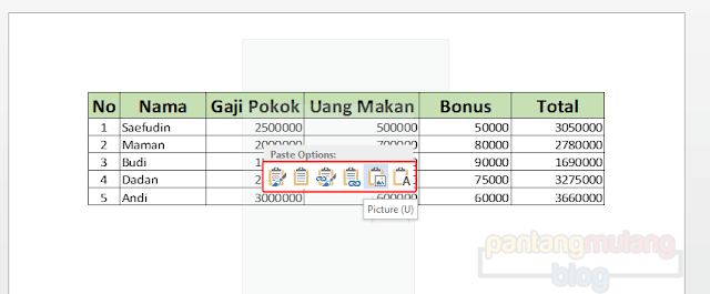 Cara Mengcopy Tabel Excel ke Word Tanpa Terpotong