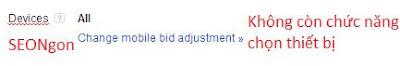 Thay đổi của phần thiết bị là một phần trong chiến dịch nâng cao google adwords