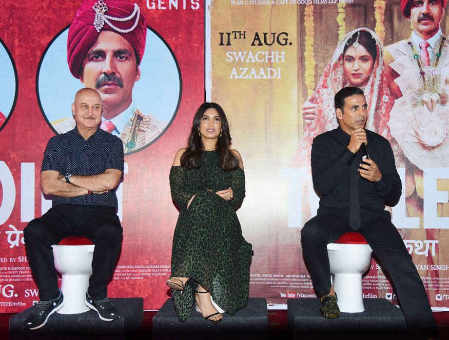Akshay Kumar and Bhumi Padnekar Promoting Film 'Toilet: Ek Prem Katha' in Delhi