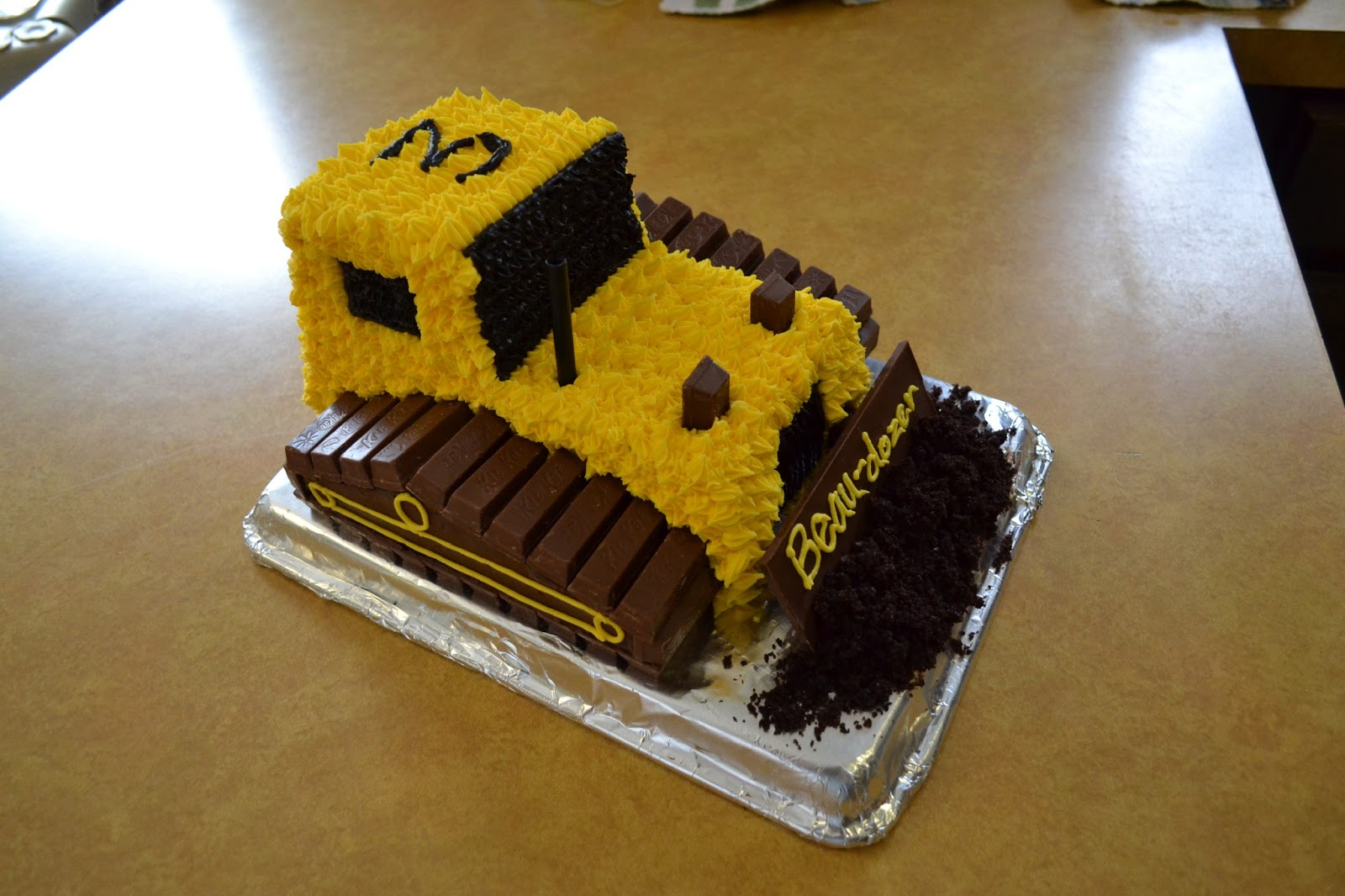 Bulldozer Birthday Cake Instructions