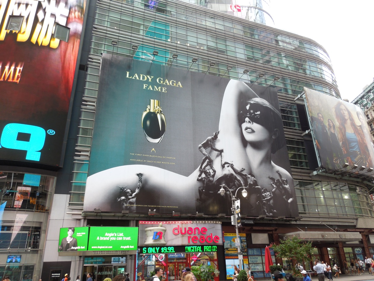 Daily Billboard: Giant Lady Gaga Fame fragrance billboard ...