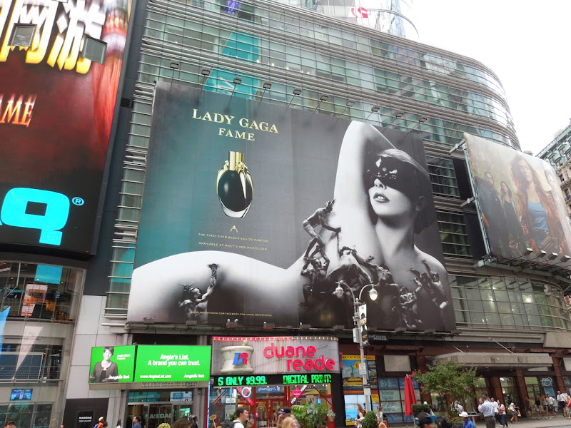 Lady Gaga Fame fragrance billboard