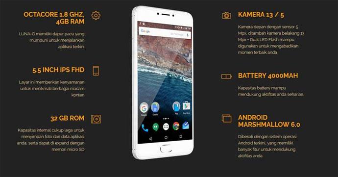 Spesifikasi Smartphone Luna G