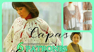 6 Patrones de Capas Crochet + Tutorial en video