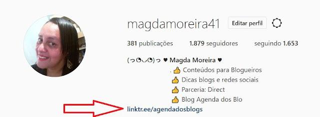 Instagram: link clicável na Bio.