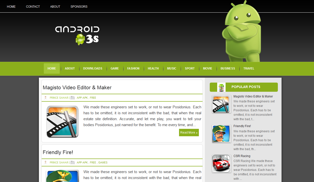 Android 3s screenshot