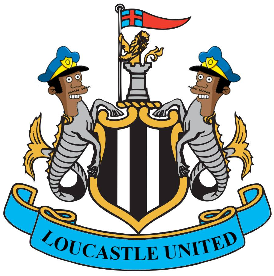 The Simpsons' version logo of Newcastle