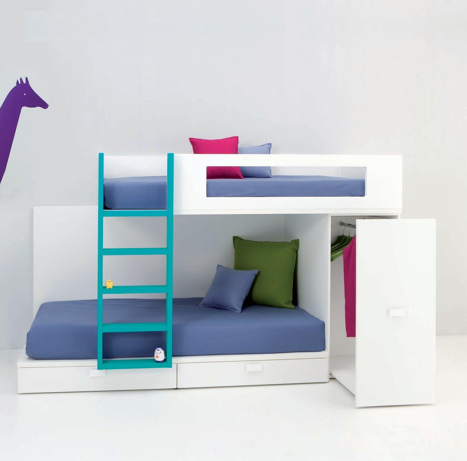 Literas juveniles e infantiles y camas tren para ni os - Literas de 3 camas ...