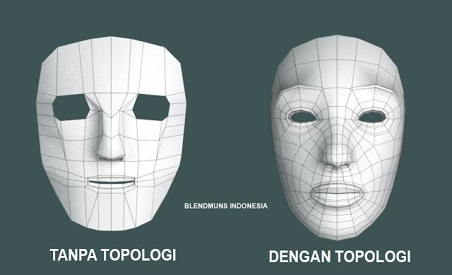 Perbedaan antara model yang menggunakan topologi dan yang tidak menggunakan topologi