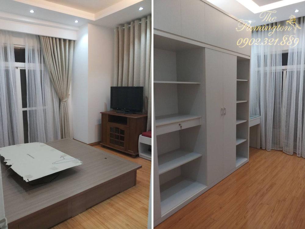 5 căn hộ THE FLEMINGTON cho thuê giá tốt nội thất đầy đủ - không gian phòng ngủ
