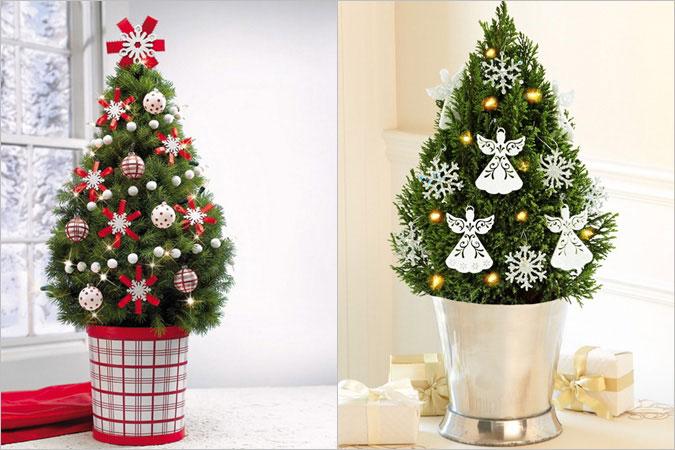 50 Ιδέες Διακόσμησης για να στολίσουμε ένα μικρό Χριστουγεννιάτικο Δέντρο
