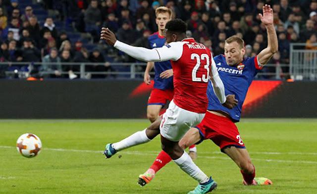 Video Cuplikan Gol Arsenal 2-2 CSKA Moscow | Leg 2 Babak 8 Besar Liga Europa