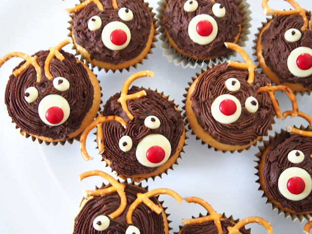 Rudolph the Reindeer Cupcakes
