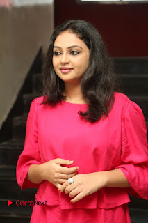 Actress Arundathi Nair Stills in Red Chididar at Bethaludu Success Meet  0039.JPG