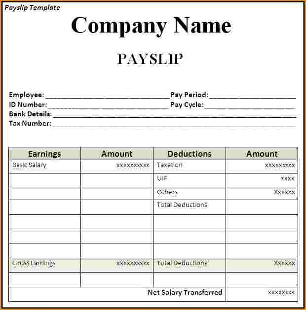 Free Salary Slip Format Template 15 Salary Slip Excel Word Download Project Management Small Business Guide