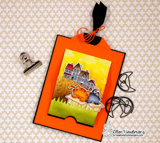 Congrats on Your New Home Interactive Card by Ellen Haxelmans | Newton Loves Boxes and Snowglobe Scenes Stamp Sets by Newton's Nook Designs #newtonsnook #handmade