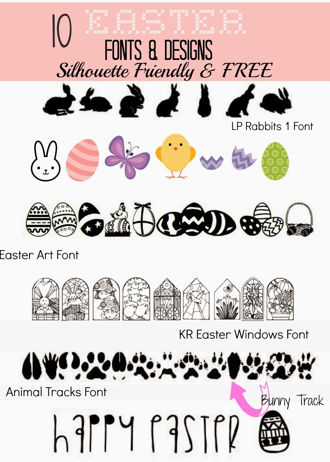 10 silhouette friendly free easter fonts and designs silhouette