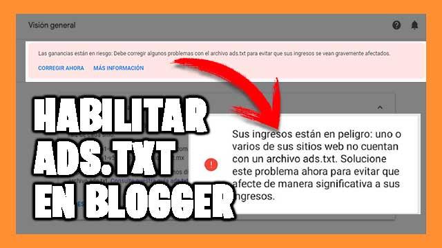 crear y añadir el archivo ADS.txt en Blogger