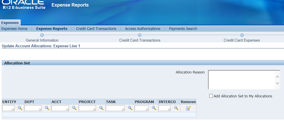 Oracle Applications Surendranath Subramani Credit Card