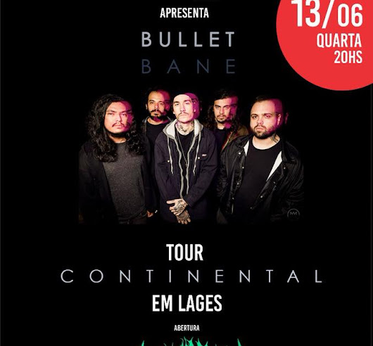 "Bullet Bane em Lages: Tour do ""Continental"" no Fatboo Studios"