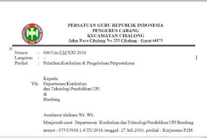 Contoh Surat Balasan Organisasi ke Dinas Instansi, Lembaga Pendidikan atau Perguruan Tinggi