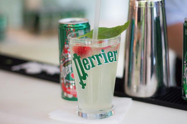 Perrier Fraise nouveauté 2016 Cocktail fraise basilic