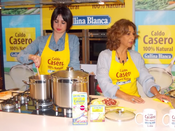 Cocinando con Lolita, Elena Furiase y Gallina Blanca