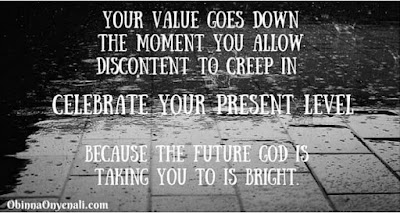 Inspirational quote on contentment.