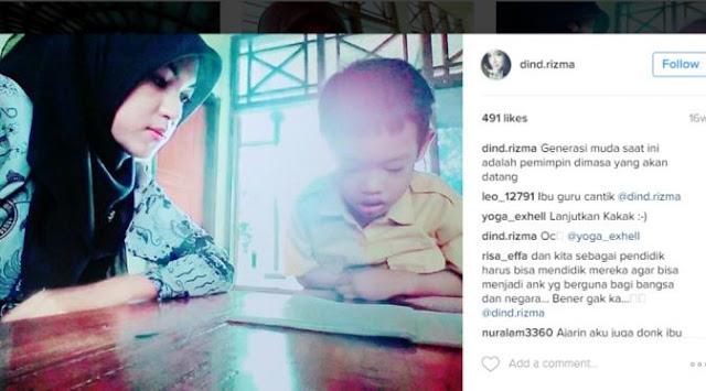 Intip 8 Foto Rizma, Guru Honorer SD Cantik Asal Tegal yang Jadi Idola